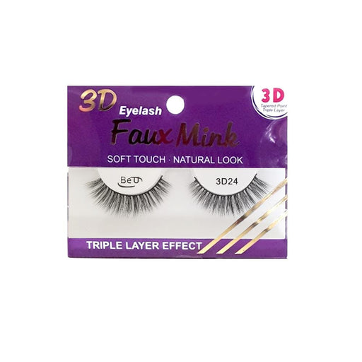 BE U | 3D Faux Mink Eyelashes 3D24 - Hair to beauty