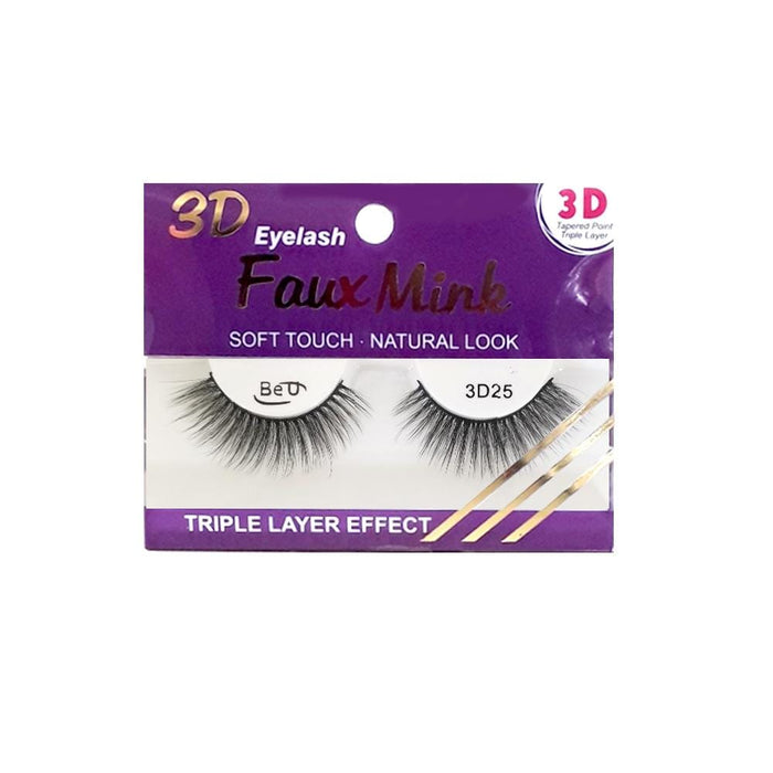 BE U | 3D Faux Mink Eyelashes 3D25.