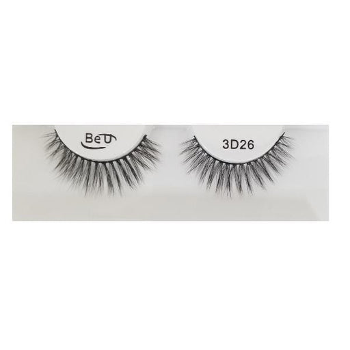 BE U | 3D Faux Mink Eyelashes 3D26 - Hair to beauty