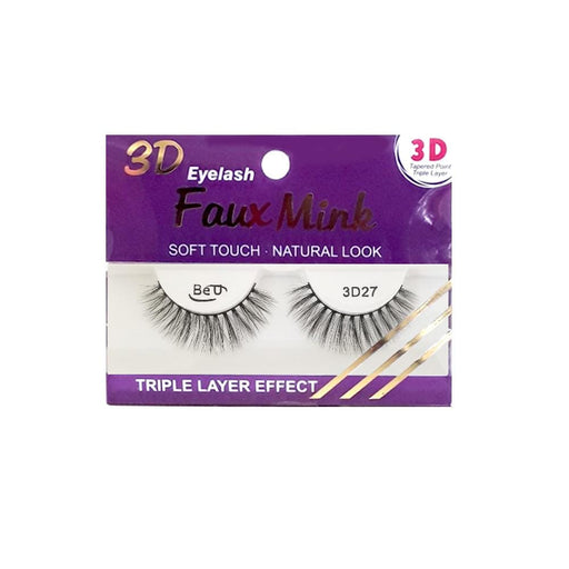 BE U | 3D Faux Mink Eyelashes 3D27 - Hair to beauty