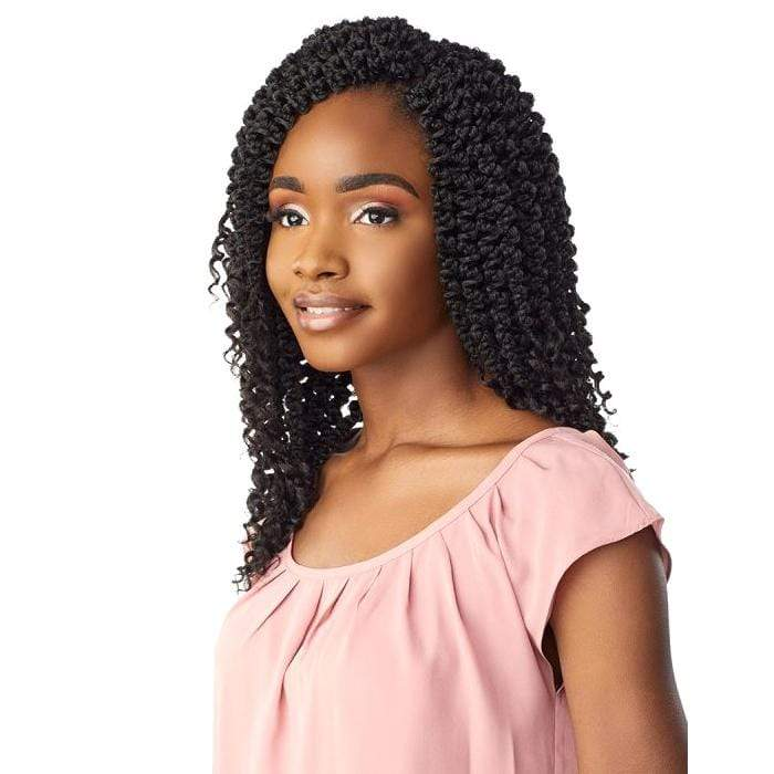 3X 3D PASSION TWIST 12 INCH - Sensationnel Lulutress Synthetic Crochet Braid - Hair To Beauty | Color Shown : 1B