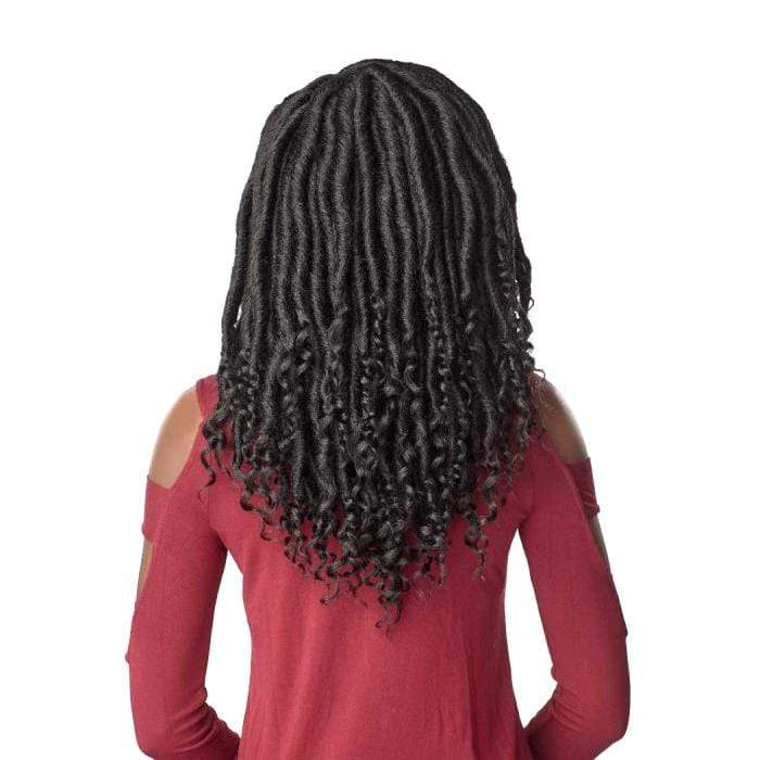 3X CHUNKY GODDESS LOCS 16 INCH - Sensationnel Lulutress Synthetic Crochet Braid - Hair To Beauty | Color Shown : 1B