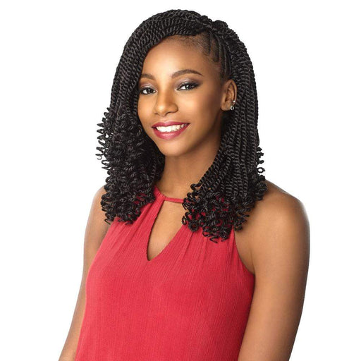 3X KINKY TWIST 12 INCH | Sensationnel Lulutress Synthetic Crochet Braid - Hair to Beauty | Color Shown : 2