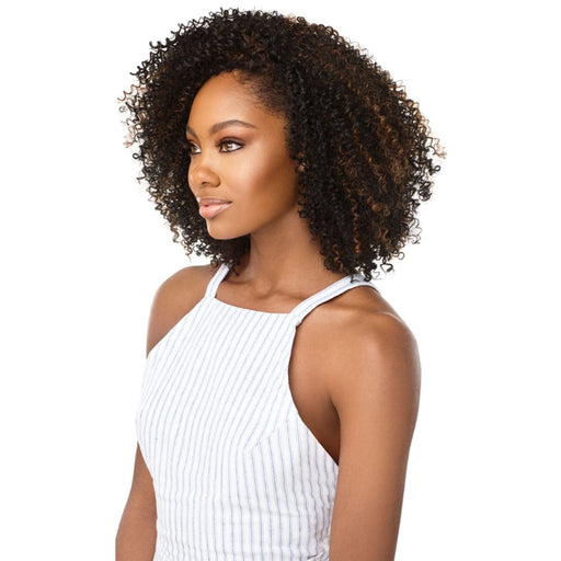 4A SIZZLE SPIRAL | Outre Big Beautiful Hair Synthetic Half Wig - Hair to Beauty | Color Shown: S1B/30