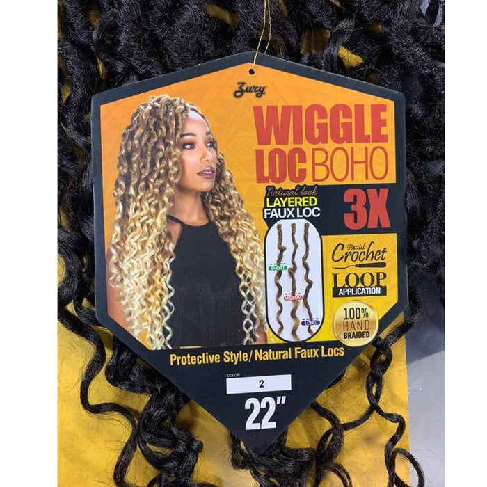 WIGGLE LOC BOHO 3X BRAID | Synthetic Braid - Hair to Beauty | Color Shown : 2