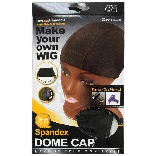 QFITT | Spandex Dome Cap Make Your Own Wig Ultra Stretch Dome Cap Black 5017 - Hair to Beauty