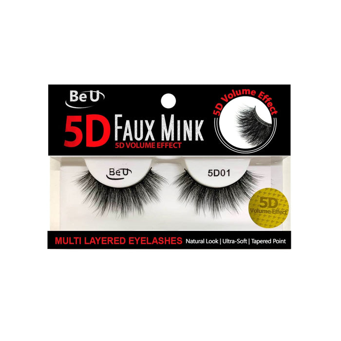 BE U | 5D Faux Mink Eyelashes 5D01 - Hair to beauty