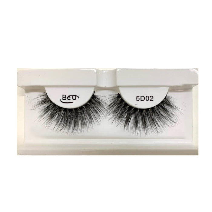 BE U | 5D Faux Mink Eyelashes 5D02 - Hair to beauty