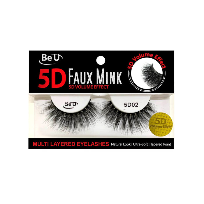 BE U | 5D Faux Mink Eyelashes 5D02.