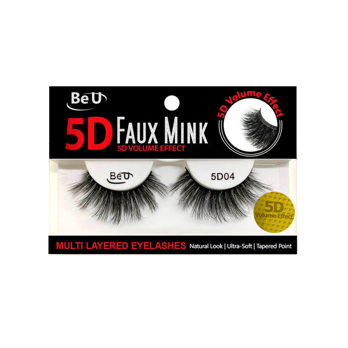 BE U | 5D Faux Mink Eyelashes 5D04 - Hair to beauty