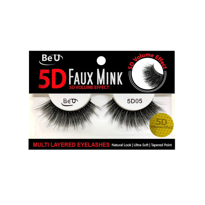 BE U | 5D Faux Mink Eyelashes 5D05 - Hair to beauty