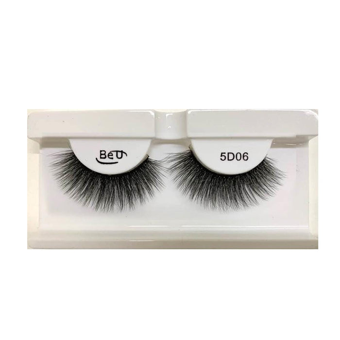 BE U | 5D Faux Mink Eyelashes 5D06 - Hair to beauty