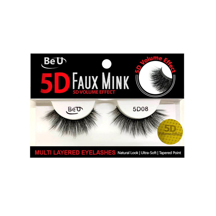 BE U | 5D Faux Mink Eyelashes 5D08 - Hair to beauty