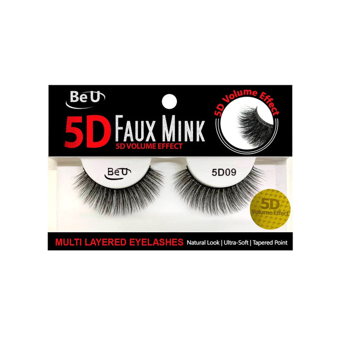 BE U | 5D Faux Mink Eyelashes 5D09.