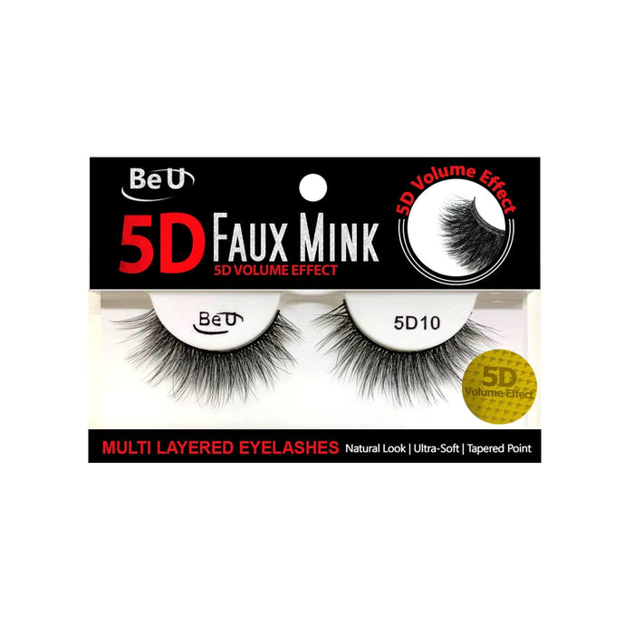 BE U | 5D Faux Mink Eyelashes 5D10 - Hair to beauty