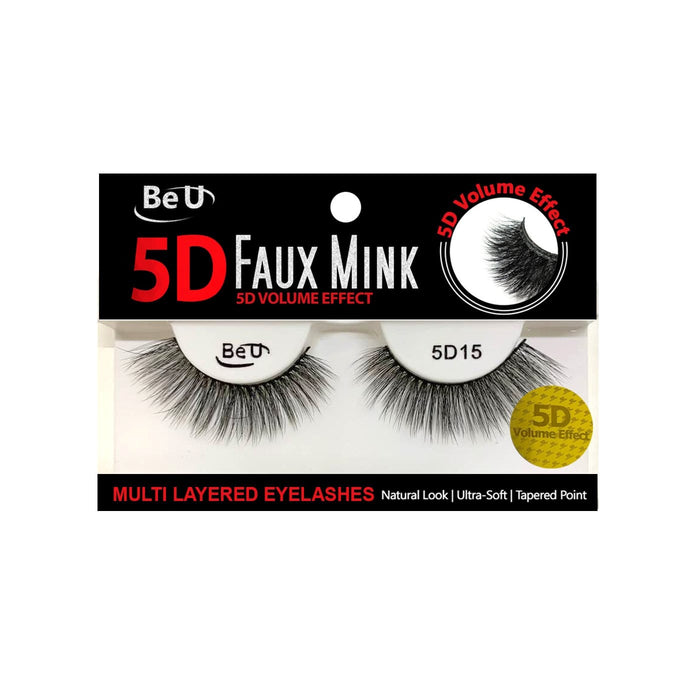 BE U | 5D Faux Mink Eyelashes 5D15 - Hair to beauty