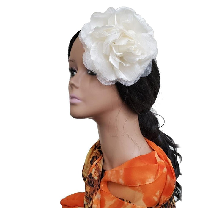 "MAGIC | 6"" Artificial Flowers Hair Pin Ivory - Hair To Beauty"