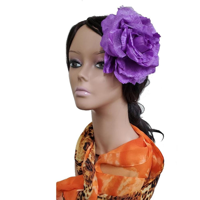 "MAGIC | 6"" Artificial Flowers Hair Pin Purple - Hair To Beauty"