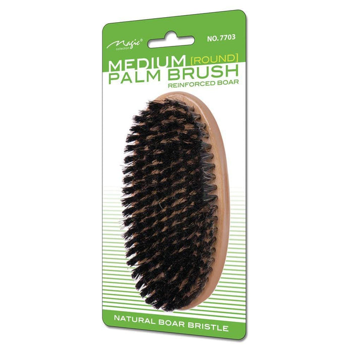 MAGIC | Natural Boar Bristle Round Palm medium Brush 7703.