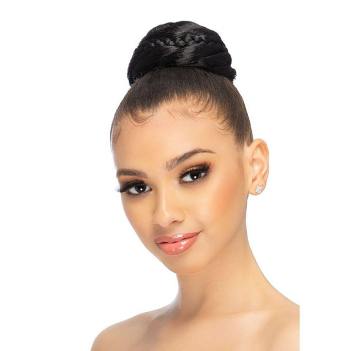 "ABN-TROY | Vivica A. Fox Premium 3.5"" X 3.5"" Woven Box with Braid and Twist Synthetic Bun - Hair to Beauty 