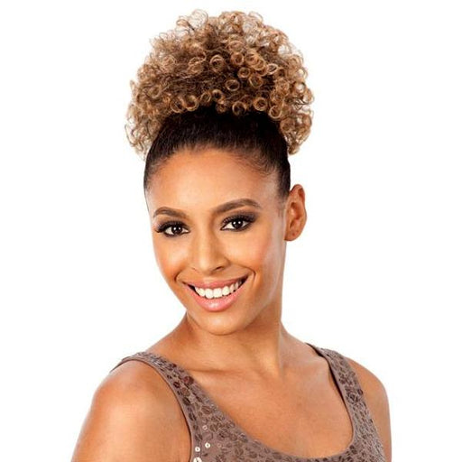 AFRO PUNK LARGE l FreeTress Synthetic Drawstring Ponytail - Hair to Beauty l Color Shown: T27