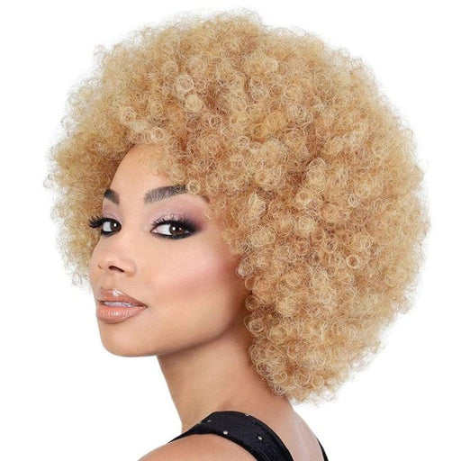 AFRO QUEEN | Motown Tress Synthetic Wig-Hair to Beauty | Color Shown : HONEY GOLD