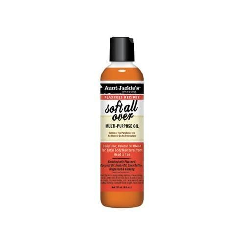 AUNT JACKIE'S | FLAXSEED MULTI-PURPOSE OIL (8OZ) [SOFT ALL OVER] - Hair to Beauty