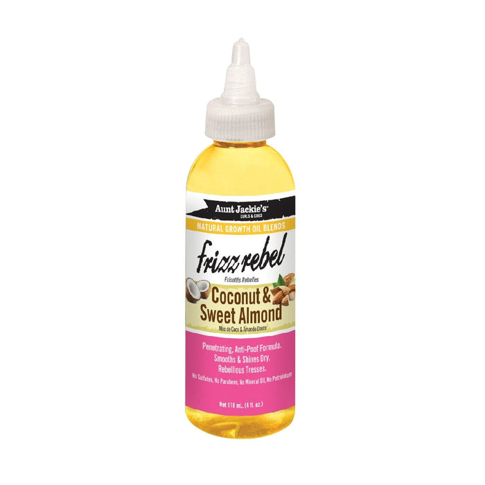 AUNT JACKIE'S | GROWTH OIL COCONUT & SWEET ALMOND (4OZ) [FRIZZ REBEL]- Hair to Beauty