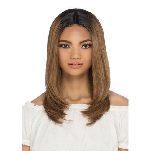AL-ELDORA | Synthetic Invisible Part Lace Front Wig - Hair to Beauty | Color Shown: P2216