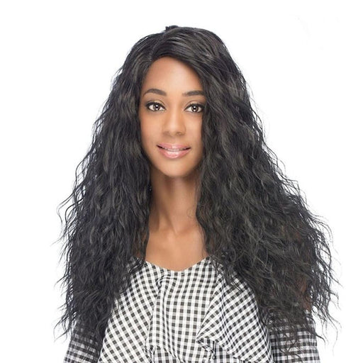 AL-OLYMPIA | Synthetic Lace Front Wig - Hair to Beauty | Color Shown: 1B