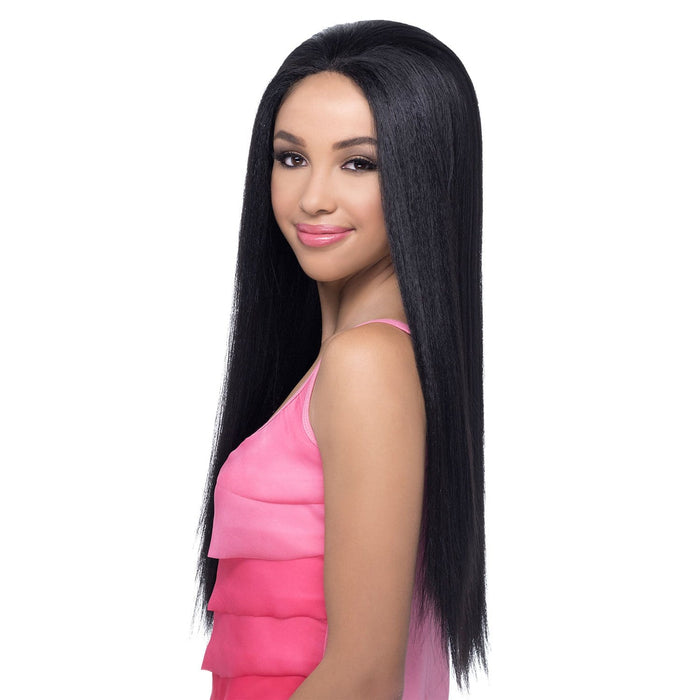 AL-SWAN | Amore Mio Synthetic Natural Baby Hair Swiss Lace Front Wig - Hair to Beauty | Color Shown: 1B