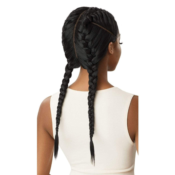 ALEKA YAKI | Swiss X Double French 4 Part Braid Synthetic Lace Front Wig.