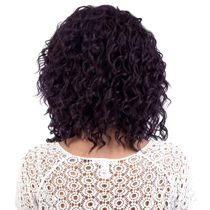 ALICIA | Motown Tress Curlable Synthetic Wig - Hair to Beauty | Color Shown: DARK VIOLET
