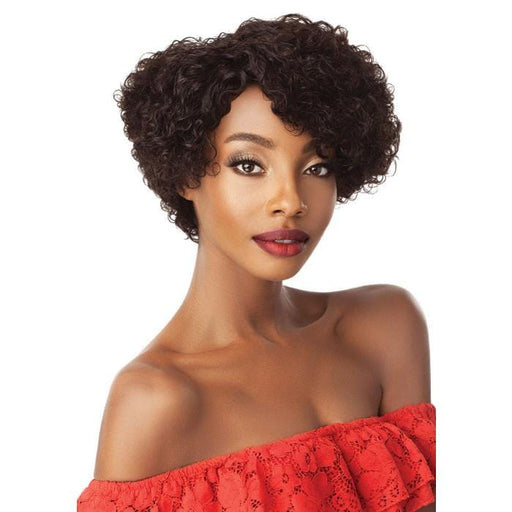 ALMA | Outre Fab & Fly Unprocessed Human Hair Wig - Hair to Beauty | Color Shown: NATURAL BROWN