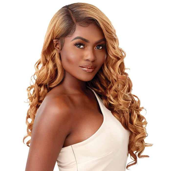 ANTONELLA - Outre Melted Hairline Synthetic HD Lace Front Wig - Hair To Beauty | Color Shown : DR2/Golden Amber