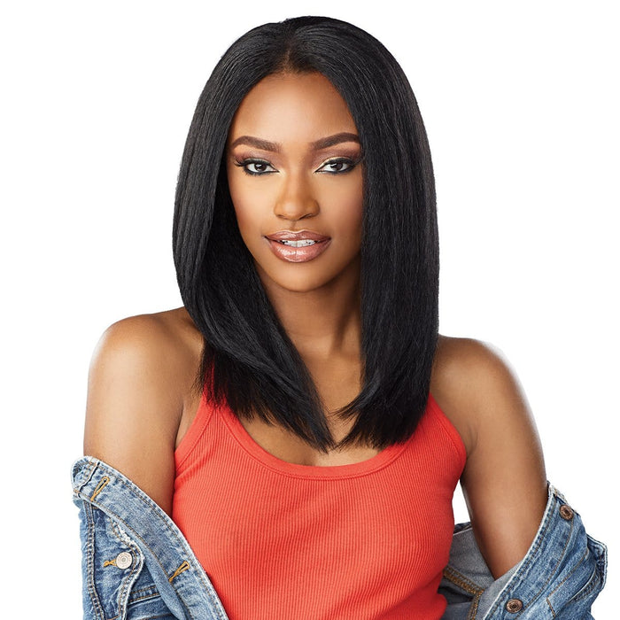 ALPHA WOMAN | Empress Curls Kinks & Co Synthetic Lace Front Wig - Hair to Beauty | Color Shown: 1B