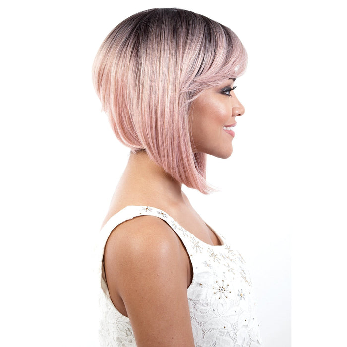 AMELIA | Motown Tress Synthetic Curlable Wig - Hair to Beauty | Color Shown: RT1B/CORAL