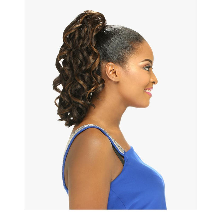 ANGELIC | Instant Pony Synthetic Ponytail - Hair to Beauty | Color Shown: F4/30