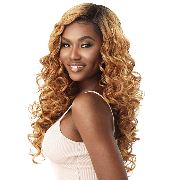 ANGELIQUE - Outre Synthetic HD Lace Front Wig - Hair To Beauty | Color Shown : DR2/Golden Amber