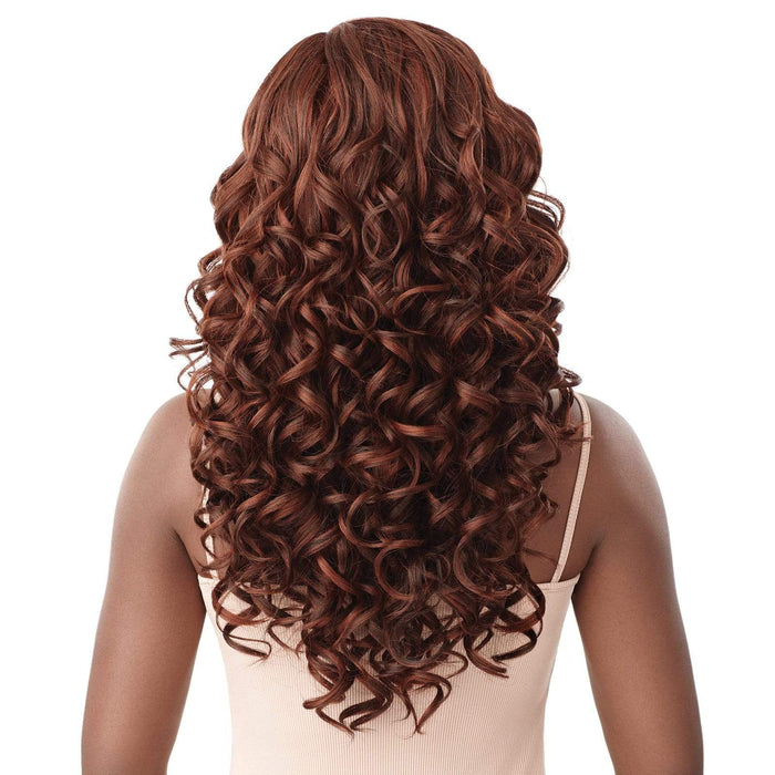 ANGELIQUE - Outre Synthetic HD Lace Front Wig - Hair To Beauty | Color Shown : Ginger Brown