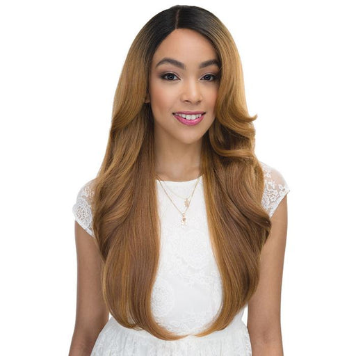 ANGIE | Janet Collection Human Blend 4X4 Princess Lace Wig - Hair to Beauty | Color Shown: DAISY