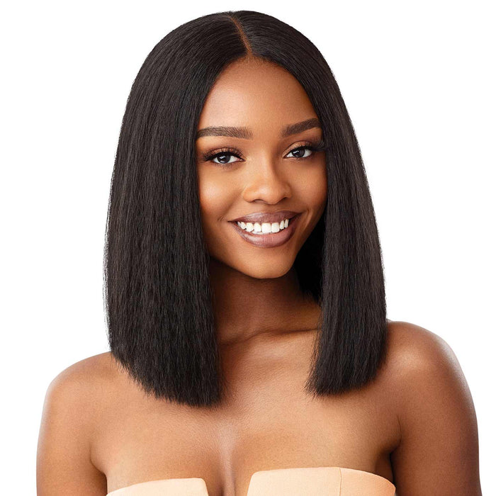 ANNIE BOB 12 INCH - Outre Synthetic HD Lace Front Wig - Hair to Beauty | Color Shown : 1B