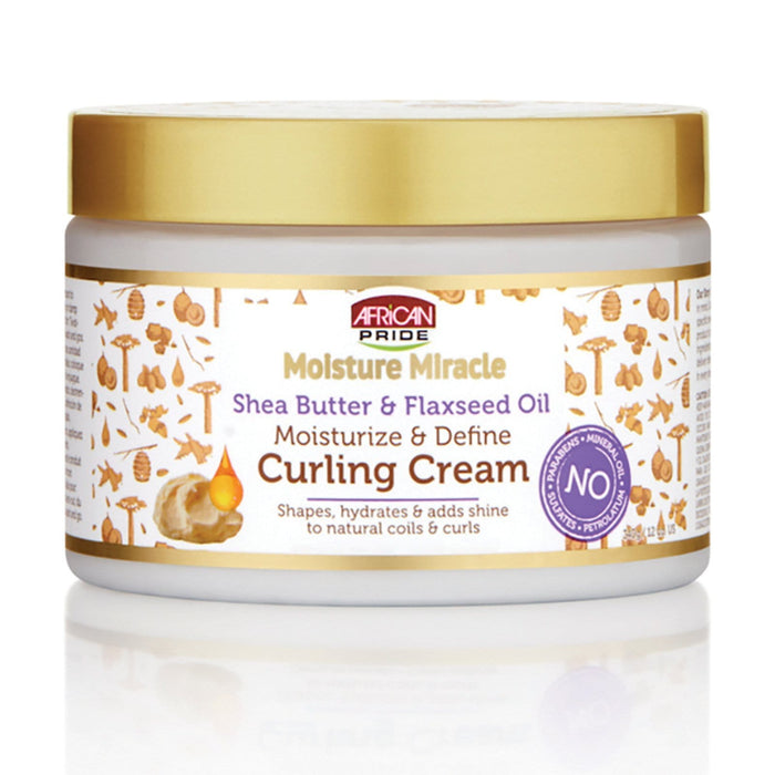 AFRICAN PRIDE | MOISTURE MIRACLE CURLING CREAM (12OZ) - Hair to Beauty