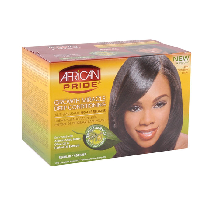 AFRICAN PRIDE | OLIVE MIR KIT REGULAR (1 APP) [DEEP COND RELAXER] - Hair to Beauty