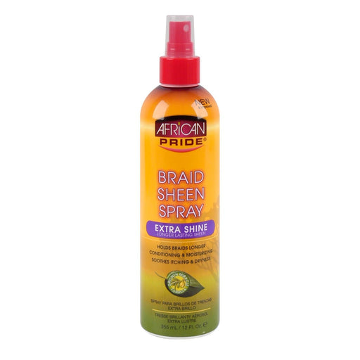 AFRICAN PRIDE | BRAID SHEEN SPRAY (12OZ) [EXTRA SHINE] - Hair to Beauty
