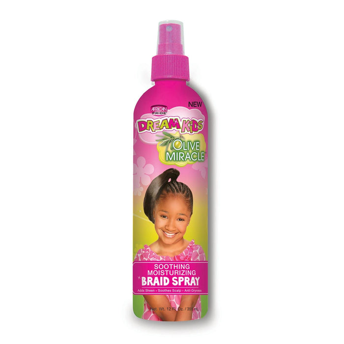 AFRICAN PRIDE | DREAM KIDS BRAID SPRAY (12OZ) [OLIVE MIRACLE] - Hair to Beauty