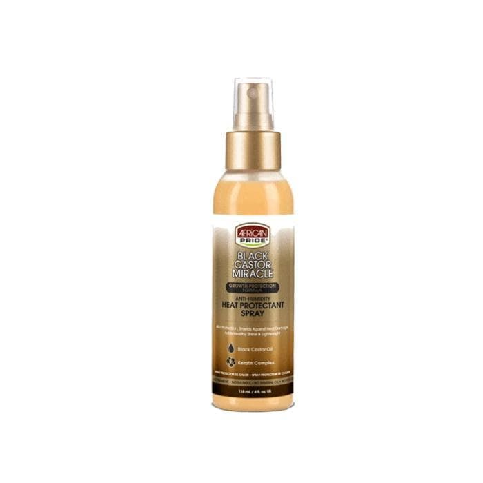 AFRICAN PRIDE | Black Castor Miracle Heat Protectant Spray 4oz.