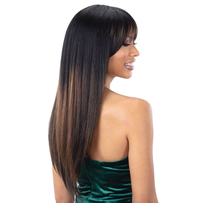 ARCHED BANG A001 | Synthetic Wig.