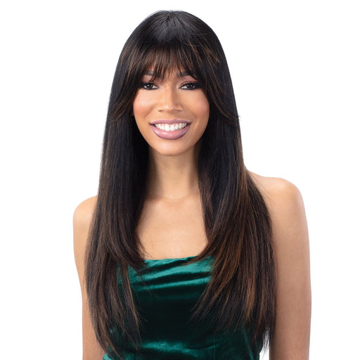 ARCHED BANG A001 | Synthetic Wig - Hair to Beauty | Color Shown: BO1B627