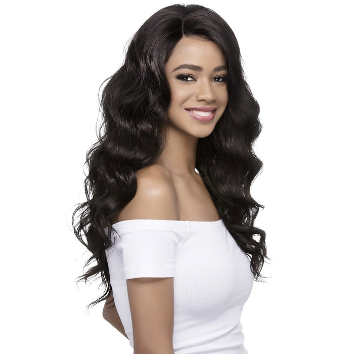 ARIEL | Synthetic Invisible Part Swiss Lace Front Wig.